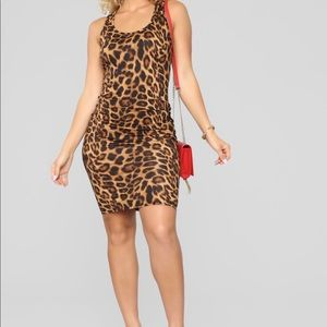 Leopard print mini dress (Fashion Nova)